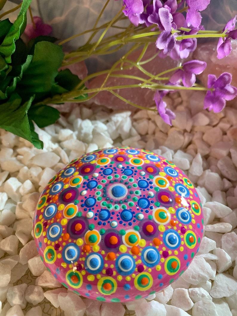 HandCraftedPainted PaperWeights Rock Art Hand Made in USA Mandala Painted Rocks Mandala Stones Painted Mandala Stones Stone Mandalas