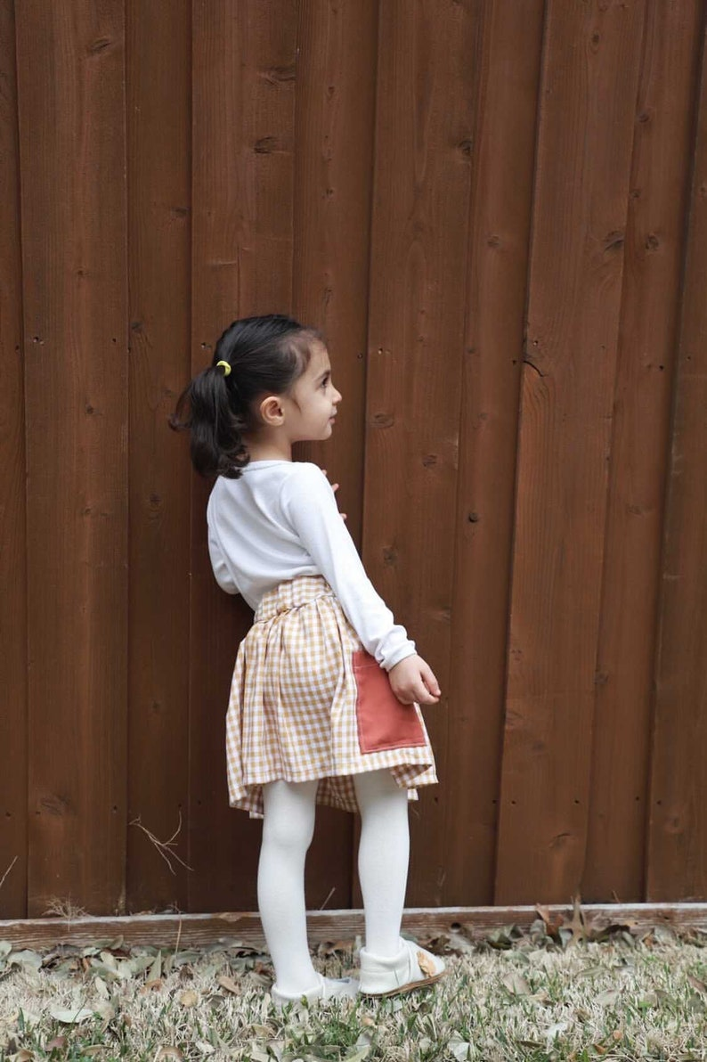 Checkered Skirt Skirt with pockets Girls Skirts Skirt Spring Clothes Girls Clothes