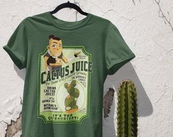 Sokka Cactus Juice T-Shirt - Drink Cactus Juice, Nothing's Quenchier, Avatar The Last Airbender t-shirt, ATLA
