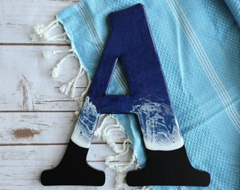 Ocean Letters | Wall letters | Home Decor Personal Letters | Resin Alphabet Letters