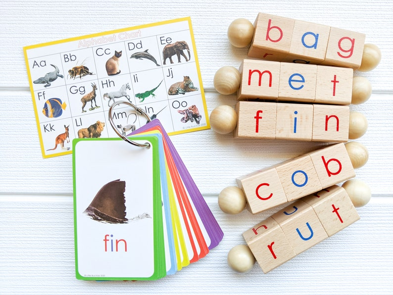 Spin-and-Read Montessori Phonetic Reading Blocks and ...