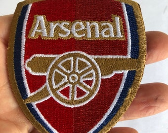 H X W = 8.5cm x 7cm Arsenal Football Club F.C Embroidered Patches Crest