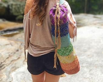Yoga Mat Bag, Pilates Bag, Women Gym Bag, Shoulder Bag, Rainbow Yoga Bag, Seven Chakras Yoga Bag, Yoga Mat Cover, Gift for her, LGBTQ Pride