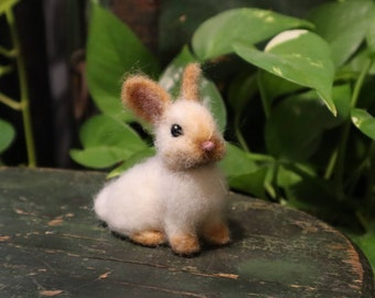 Needle Felted Bunny, Cottontail Rabbit