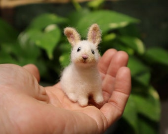 Needle Felted Baby Bunny, Cottontail Rabbit, Little Bunnyrabbit