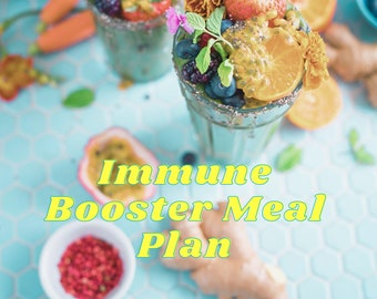 Immune Boosting Meal Plan- 6 days of immune boosting recipes to help keep you healthy and protected