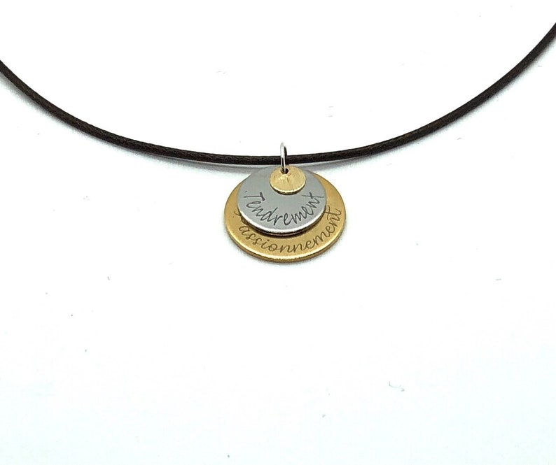 Grandmother/'s Day gift customizable pendant engraved jewel