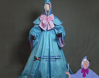 Disney Movie Cinderella Magic Fairy Cosplay Costume Fairy Godmother Cosplay Dress