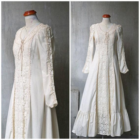 gunne sax BLACK LABEL ivory beige lace victorian e