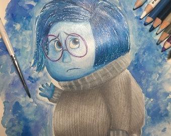 ORIGINAL: Disney Pixar inspired Sadness Artwork