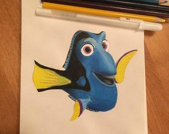 Original: Disney Inspired Dory Artwork
