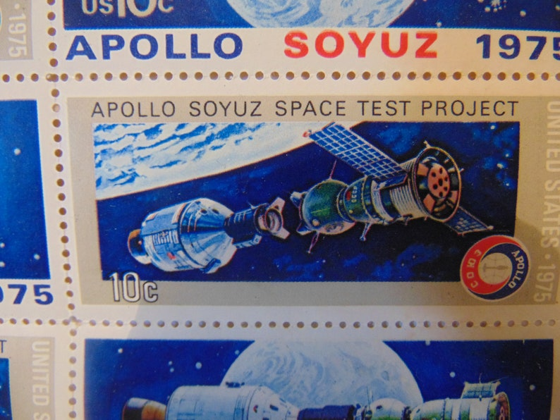 US Apollo and  Russian Soyuz  stamps 1975