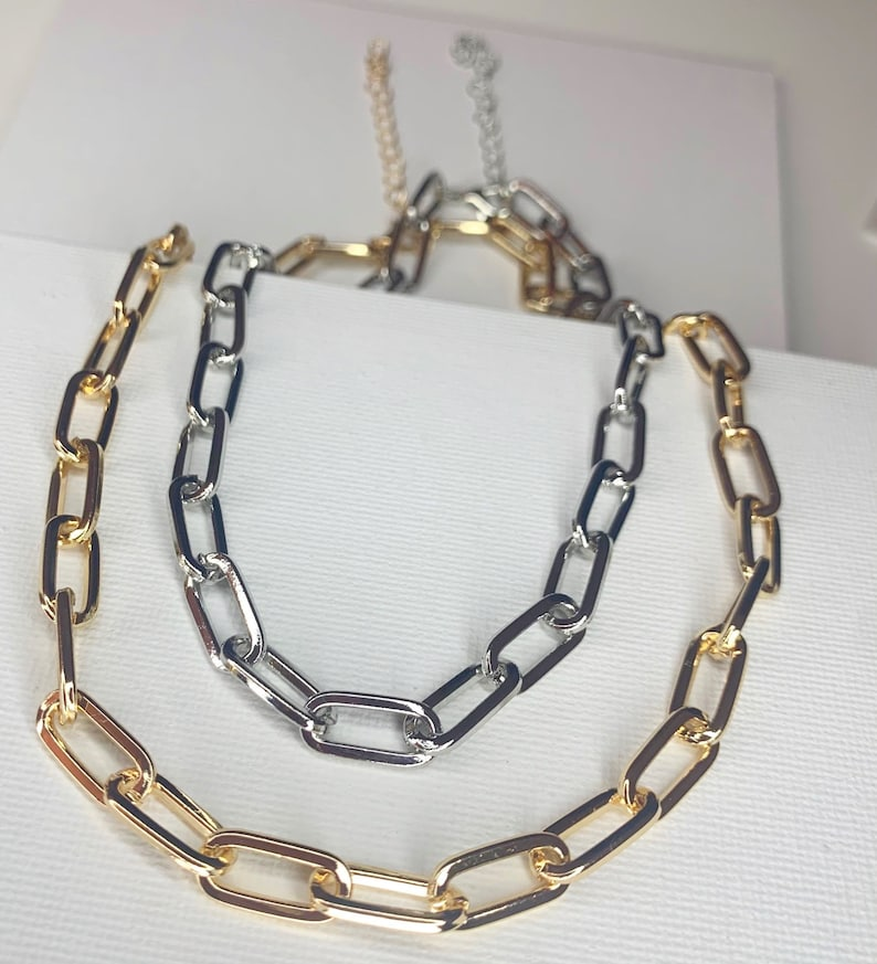 Hot Selling Punk Style Delicate Jewelry Simple Circle Chain Collar Choker Necklace for Women
