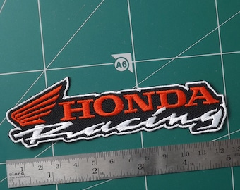 6.00x10.00 cm.x1 pc honda wing red vintage racing big bike embroidery iron on sew patch badge applique apparel garment fabric