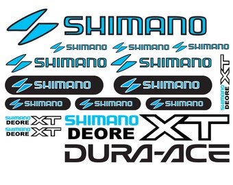 Shimano Vinyl Decal Stickers Sheet Bike Frame Cycle Cycling Bicycle Mtb Road