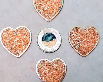 Glass Heart Cabochon 10mm Clear 20 Cabs Wire Wrapping Jewellery Making Crafts