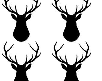 Wall Decal Male Vinyl Sticker. Door Deer Car Antlers Van Stag