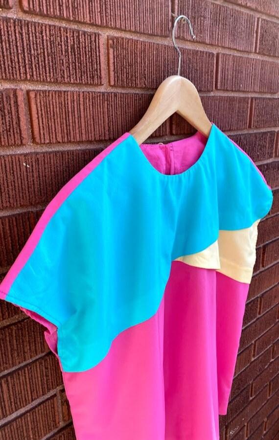 Vintage 80s Boxy Silky Pink Sleeveless Blouse Fash