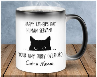 Fathers day//Mothers Day or birthday gift from your pet cat Cat Dad// cat Mum mug