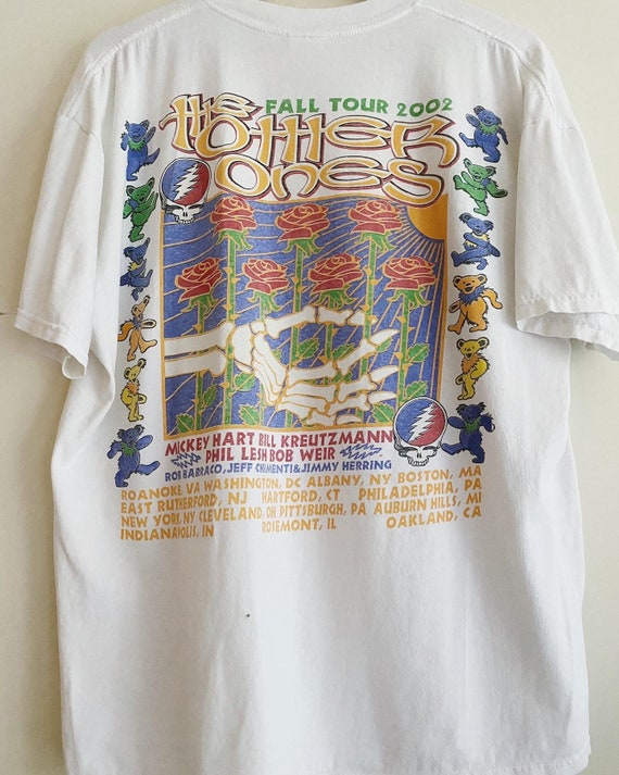 2002 Grateful Dead Fall Tour band t-shirt