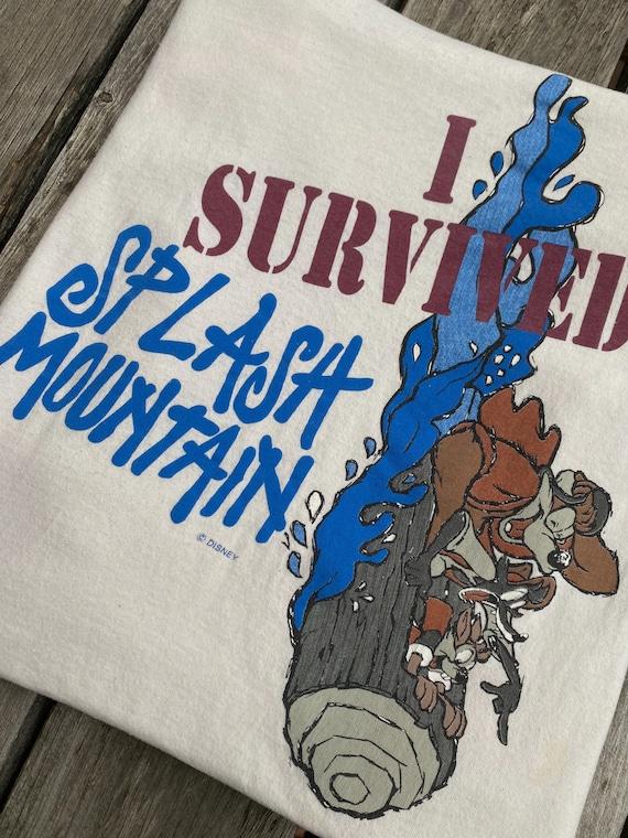 Vintage 90s Disney Ride Splash Mountain T-shirt