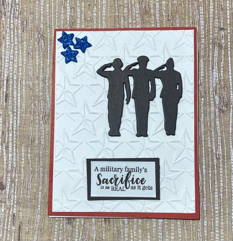 Thank You for Your Service card Military Army Handmade MILITARY FAMILY SERVICE Card Navy Marines  Milit Air Force Coast Guard