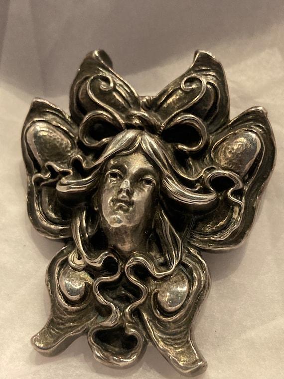 Sterling angel brooch