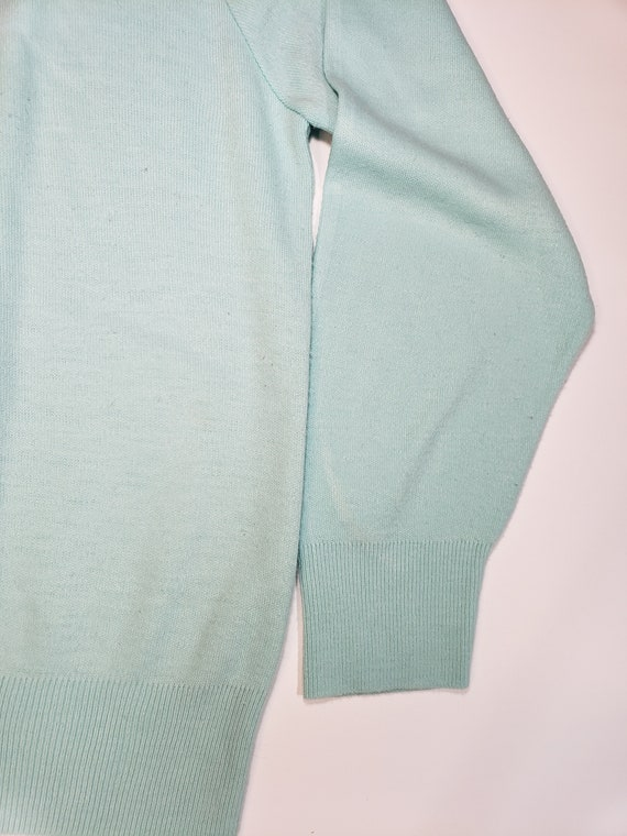 1980s does 1950s Light Blue Sweater Pastel Blair - image 8