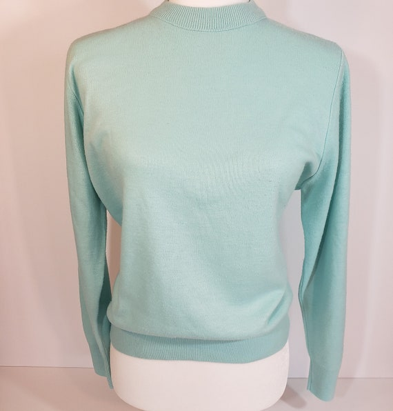 1980s does 1950s Light Blue Sweater Pastel Blair - image 5