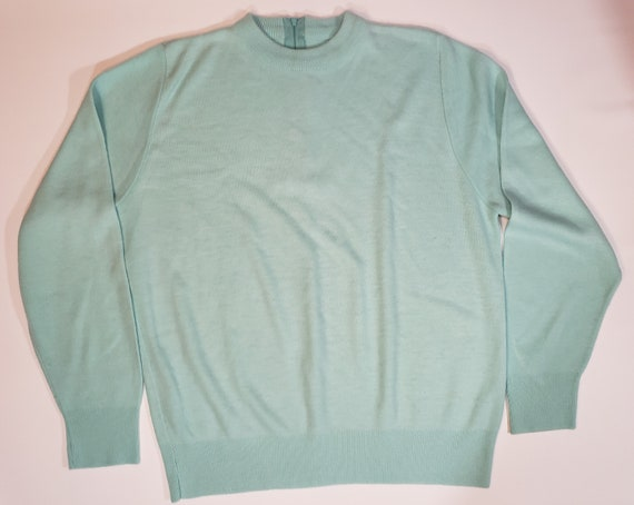 1980s does 1950s Light Blue Sweater Pastel Blair - image 7