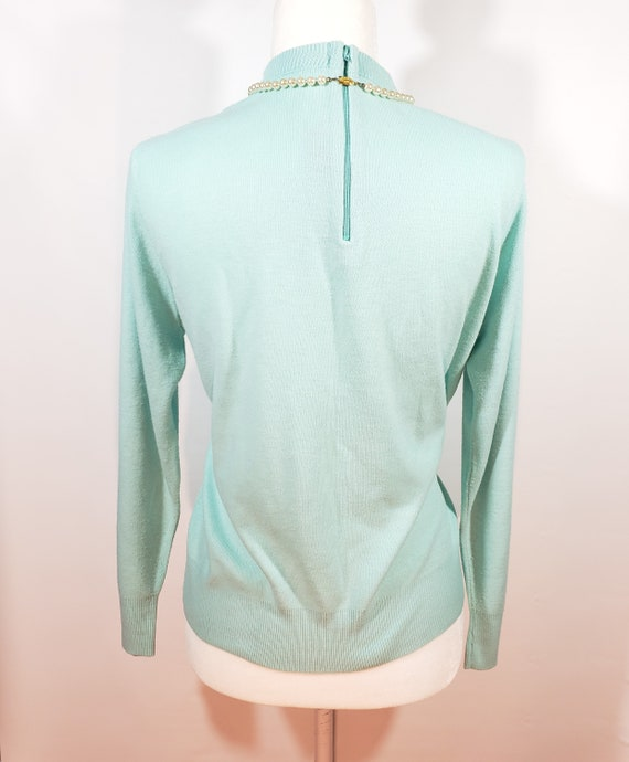 1980s does 1950s Light Blue Sweater Pastel Blair - image 3