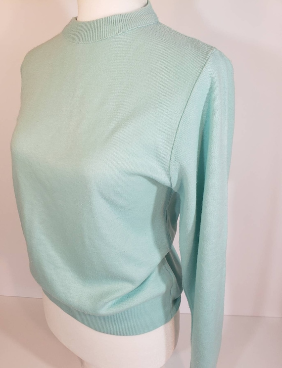 1980s does 1950s Light Blue Sweater Pastel Blair - image 4