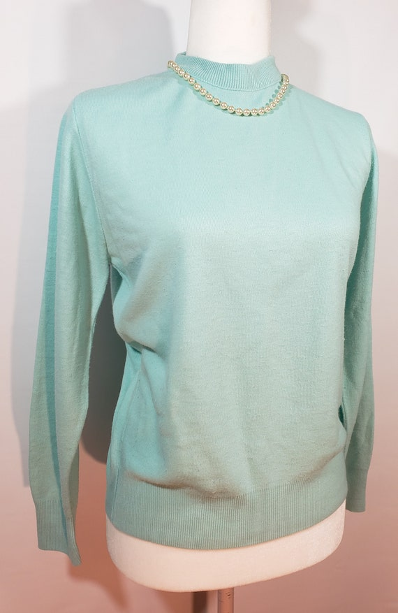 1980s does 1950s Light Blue Sweater Pastel Blair - image 2