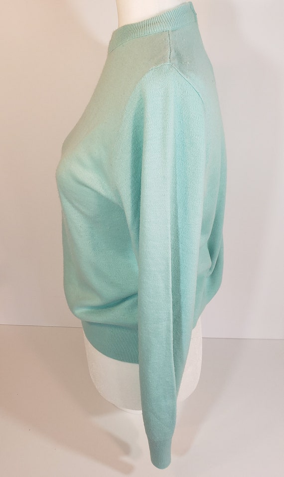 1980s does 1950s Light Blue Sweater Pastel Blair - image 6