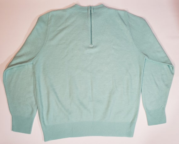 1980s does 1950s Light Blue Sweater Pastel Blair - image 9