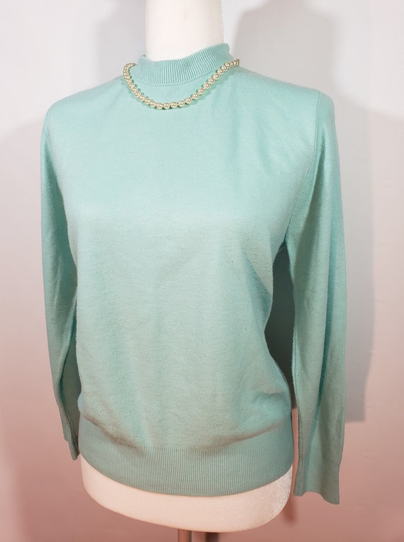 1980s does 1950s Light Blue Sweater Pastel Blair - image 1