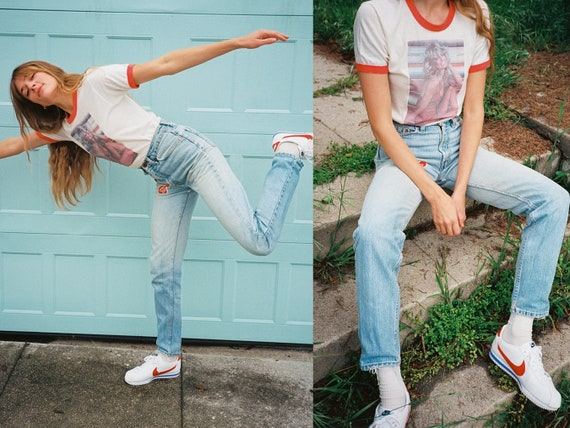 Vintage 1980s Levi's Patch High Waisted 512 Jeans - image 1