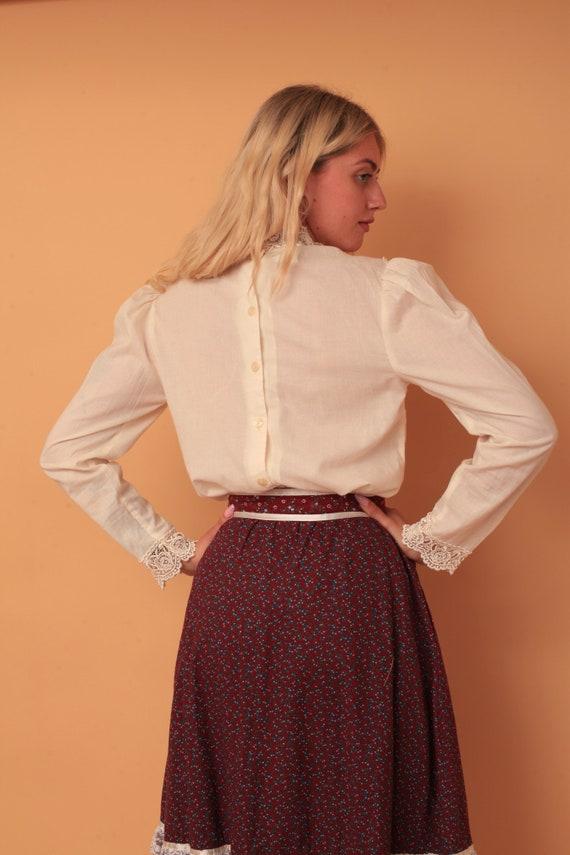 Vintage 1980s Jessica McClintock Gunne Sax Lace V… - image 2