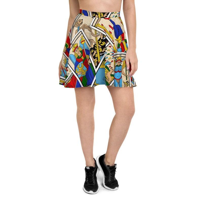 Tarot Card Deck Tarot Love Psychic Reading Skater Skirt Skater Dress Circle Skirt Goth Dress Gothic Dress Witch Dress Tarot Cards Deck
