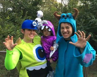 Grown Up FLEECE Sully Sulley Halloween Costume Blue Monster With Purple Spots Custom Made