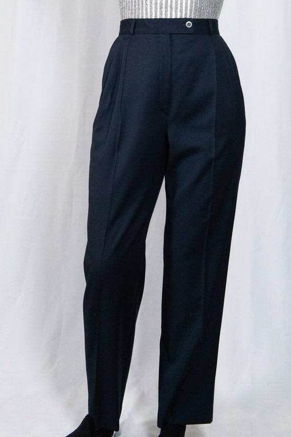 Vintage 90s Navy Italian Wool Slacks