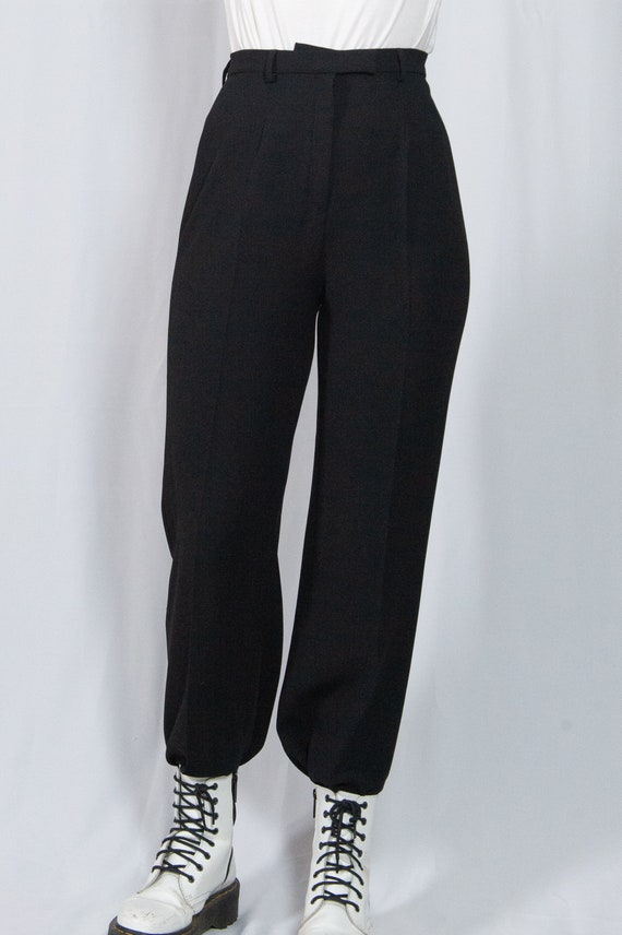 Vintage 90s High Waisted Black Trousers