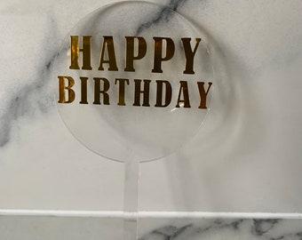Acrylic Cake Topper | Birthday Cake | Wedding Cake | Personalised Cake Topper | Birthday Celebrations | Custom Made Cake Topper | Milestone