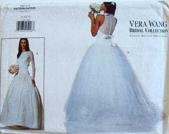 1970s Norman Hartnell Womens Empire Waist Bridesmaid Dress or Wedding Gown Flutter Sleeves Spadea Sewing Pattern 70424 Size 12 Bust 34 FF
