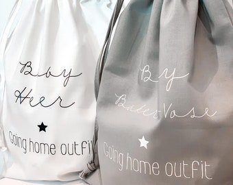 bag only pregnancy hospital personalised for your babygrow My first outfit bag