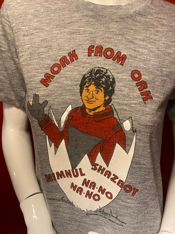 Vintage Mork and Mindy T-shirt size small - image 6