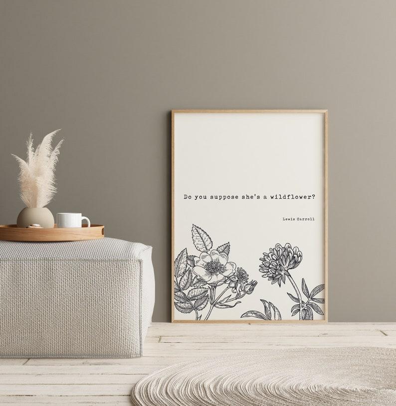 Minimalist Art Home Decor Literary Art Vintage Art Print Book Quotes Alice in Wonderland Wall Art Inspiring Quotes