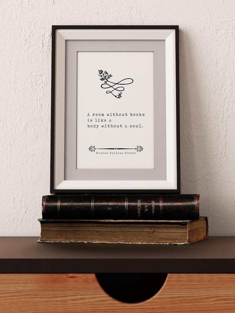 Print Inspiring Quotes Wall Art Book Quotes Vintage Art Minimalist Art Literary Art Marcus Tullius Cicero\u2019s Quote Home Decor