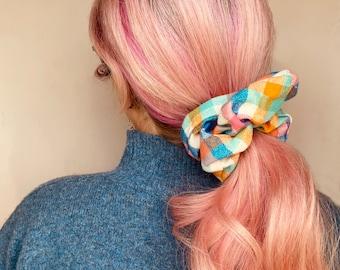 Large Flannel Scrunchie