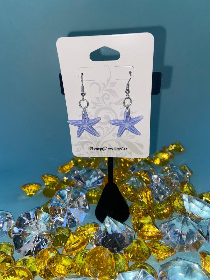 Blue Sea Star Earrings